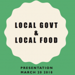 Local gov and local food